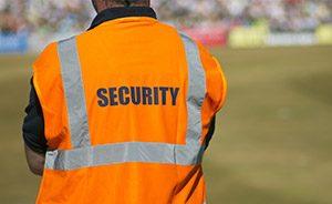 Sicherheitskraft beim Einsatz